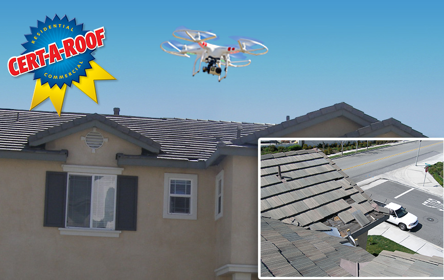 Drone Roof Inspection by Cert-A-Roof